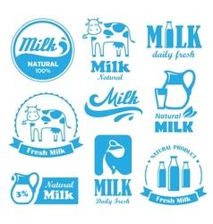 Milk labels vector image