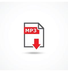 Mp3 download icon vector image