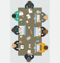teamwork for office desk business strategy new vector image vector image