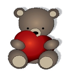 Teddy bear with the big heart vector image