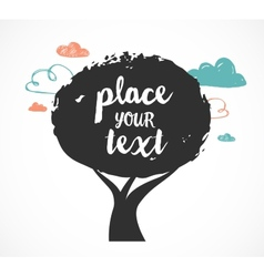 tree background with a place vector image