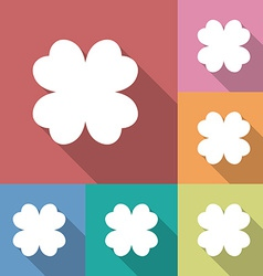 Four leaf clover icon vector image vector image