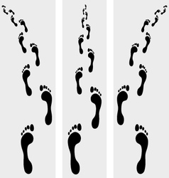 human bare footsteps vector image vector image