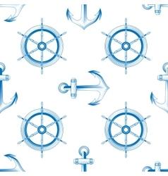 marine themed seamless pattern vector image