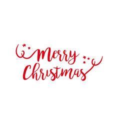 Merry christmas quote text lettering vector
