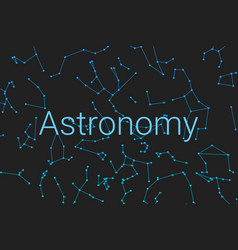cover for the poster astronomy poster for the vector image