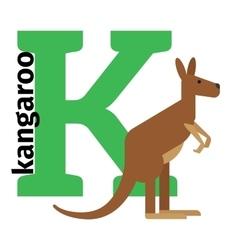 English animals zoo alphabet letter K vector image