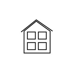 house with windows icon vector image vector image