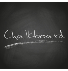 retro black chalkboard background with text eps10 vector image