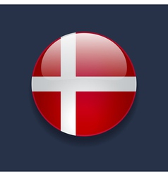 Round icon with flag of Denmark vector image vector image