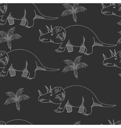 Triceratops chalk seamless vector image