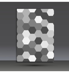 Abstract hexagon set vector