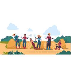 agricultural work concept cartoon farmer vector image