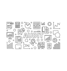 Audit horizontal banner or vector