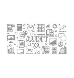 Audit horizontal banner vector