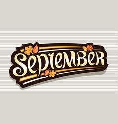 banner for september vector image