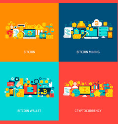 bitcoin concepts vector image