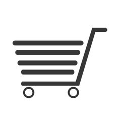 Black striped shopping cart desig graphic vector