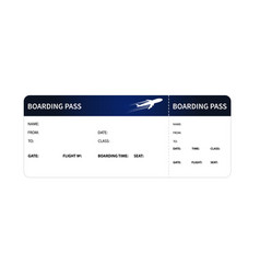 Blue boarding pass vector