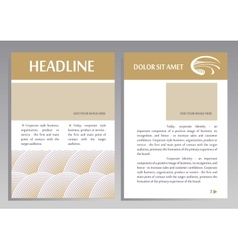 Brochure Flyer design template in A4 size Layout vector