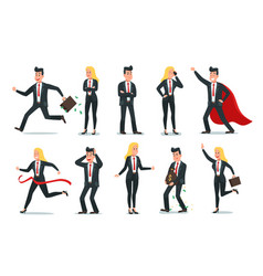 businessman and businesswoman characters office vector image