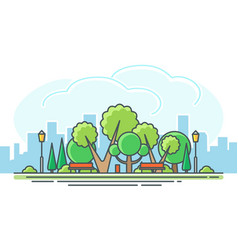 cartoon park lawn vector image
