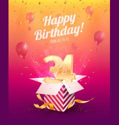 Celebrating 34 th years birthday vector