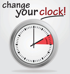 change your clock vector image