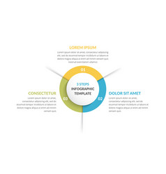 Circle infographics - three elements vector