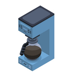 coffee maker icon isometric style vector image