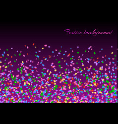 Confetti explosion backdrop vector