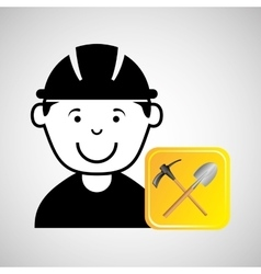construction worker tools graphic vector image
