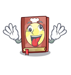 crazy recipe book on the mascot shelf vector image