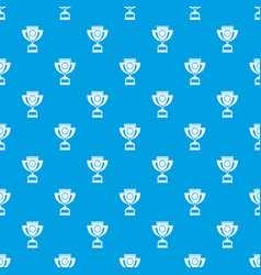 Cup pattern seamless blue vector
