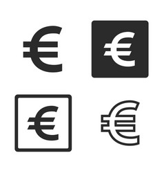 euro currency symbol set vector image