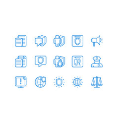general data protection regulation icon set vector image