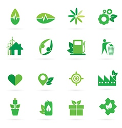 green icon and symbol design vector image