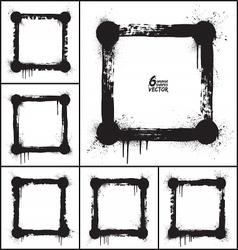 Grunge shapes set vector