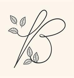 Handwritten letter b monogram or logo brand vector