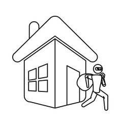 Home insurance symbol vector