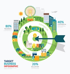 Infographic business arrow and target shape templa vector