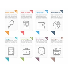 Infographic Elements with Numbers and Text vector image