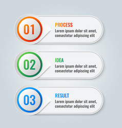 Infographic scheme with three main steps process vector