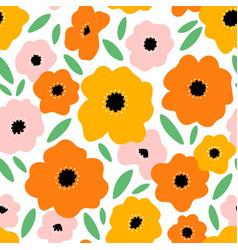It feels like summer beautiful bright flowers vector