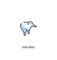 Kiwi bird concept 2 colored icon simple line vector