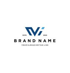 Letter mi logo design vector