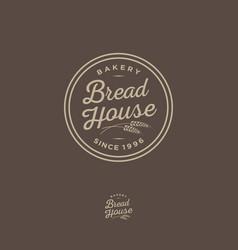 Logo bakery round bread shop emblem vector
