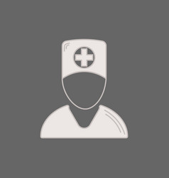 Medical icon doctor medic in a flat style vector