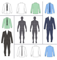 mens clothing set vector image vector image