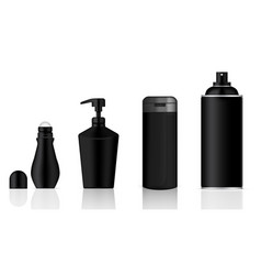 Mock up realistic black cosmetic gel soap vector